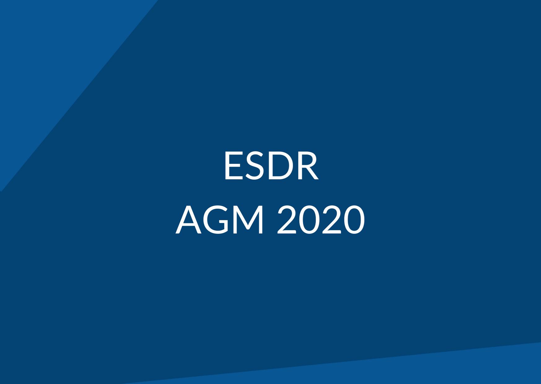 ESDR AGM 2020