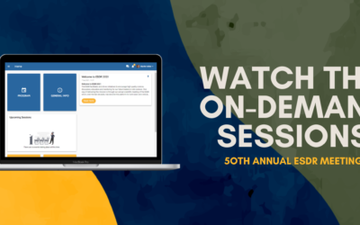 ESDR 2021 – Watch the On-Demand Sessions